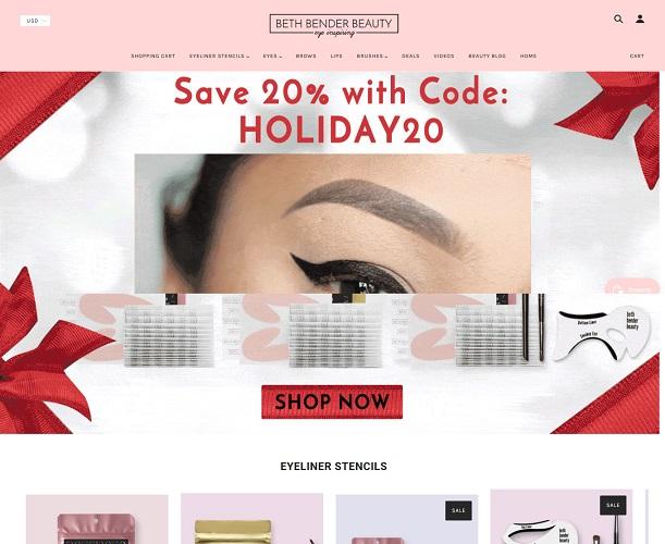 Eyeliner Stencils - Eye Makeup Stencils - Beth Bender Beauty_ - bethbenderbeauty.com
